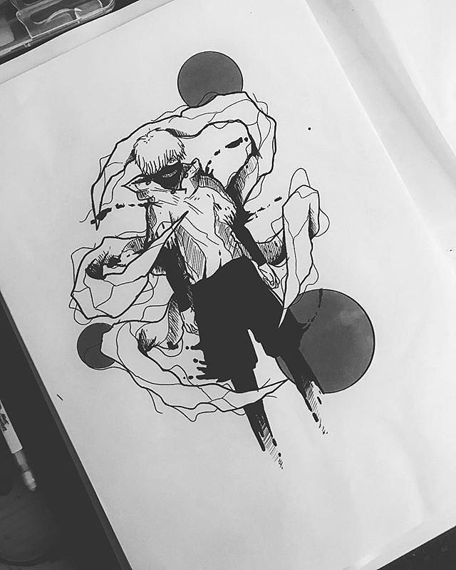 Kaneki of Tokyo ghoul.., tattoo project !